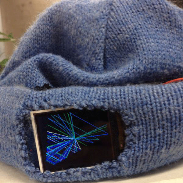 Arduino prototype of an animated, interactive, sound-responsive hat